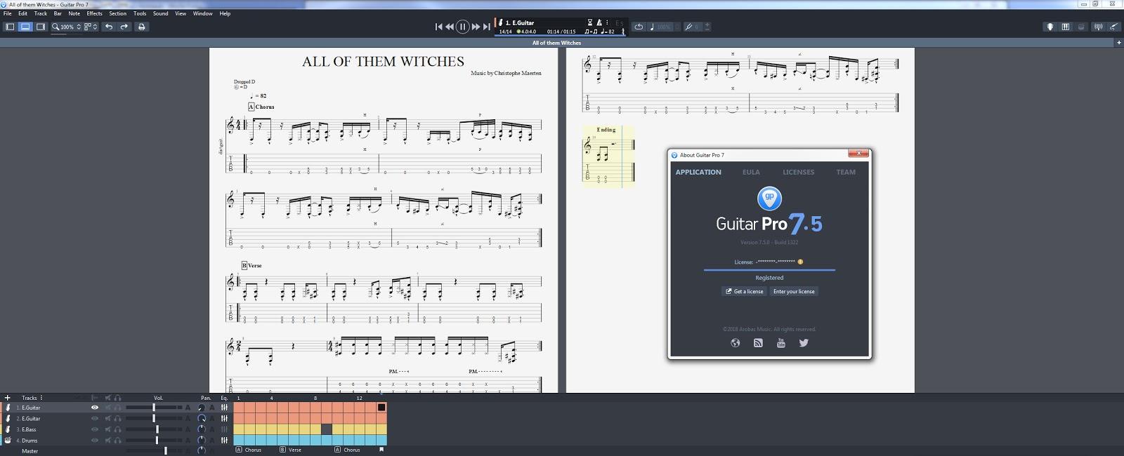 Guitar Pro v7.5.2 Build 1586 + Soundbanks Full version