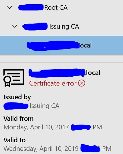 Certificate Error: This site is not secure, Your PC doesn't trust