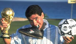 medalla de oro de Maradona