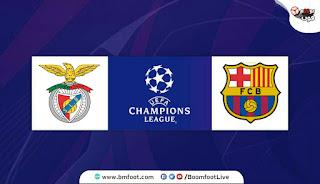 مشاهدة مباراة برشلونة وبنفيكا بث مباشر اليوم في دوري أبطال أوروبا