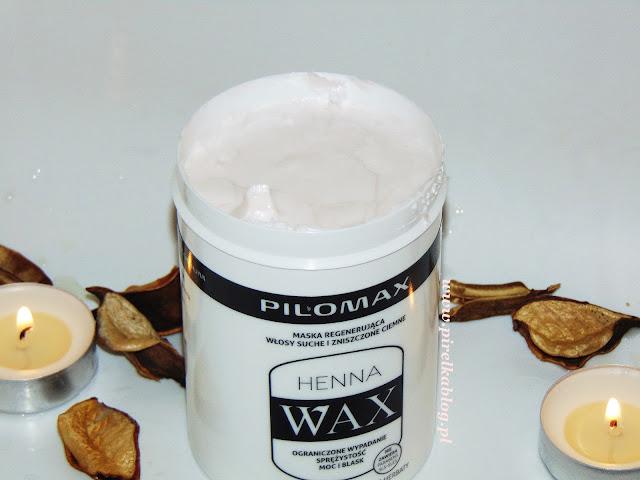 Pilomax Henna Wax, Maska regnerująca do włosów ciemnych
