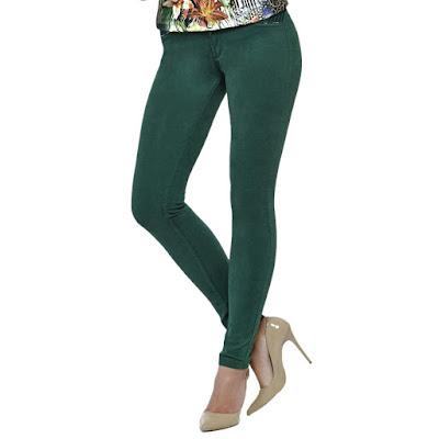 Bayan süet pantolon yeşil renk