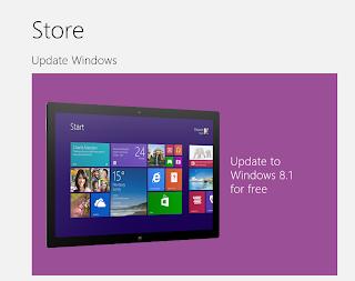 Update windows 8.1 Sudah Tersedia