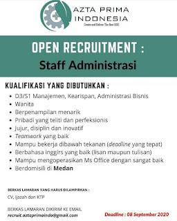 Staff Administrasi di PT Azta Prima Indonesia