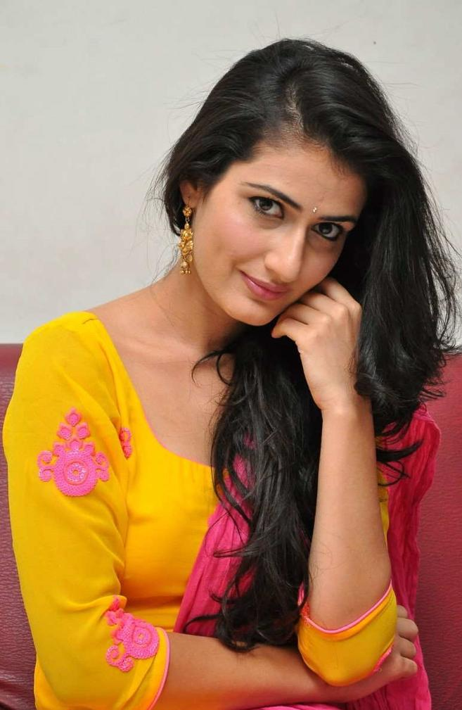 Beautiful Telugu Actress Sana Long Hair Yellow Dress Photos