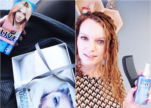 Farbowanie włosów w domu. Schwarzkopf Live Pastel Spray - jak zafarbować włosy w domu? To proste - zobacz efekty.