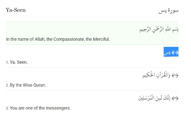 Surah Yaseen In English