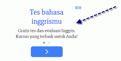 Contoh iklan PPC Google AdSense yang ada di sebuah website.