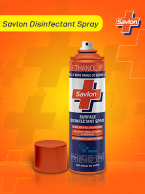 Savlon Surface Disinfectant Spray, For Hard & Soft Surfaces to Protect Your Family