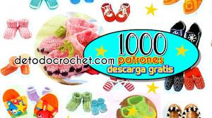 1000 patrones de patucos, pantuflas y guantes crochet / PDF