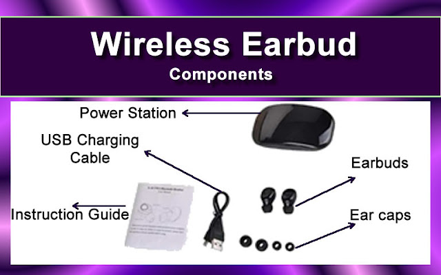 Components of Wireless Earbud X-18s