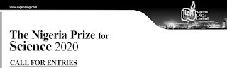 NLNG Prize for Science 2020 [$100,000 for Grab] | Call for Entries