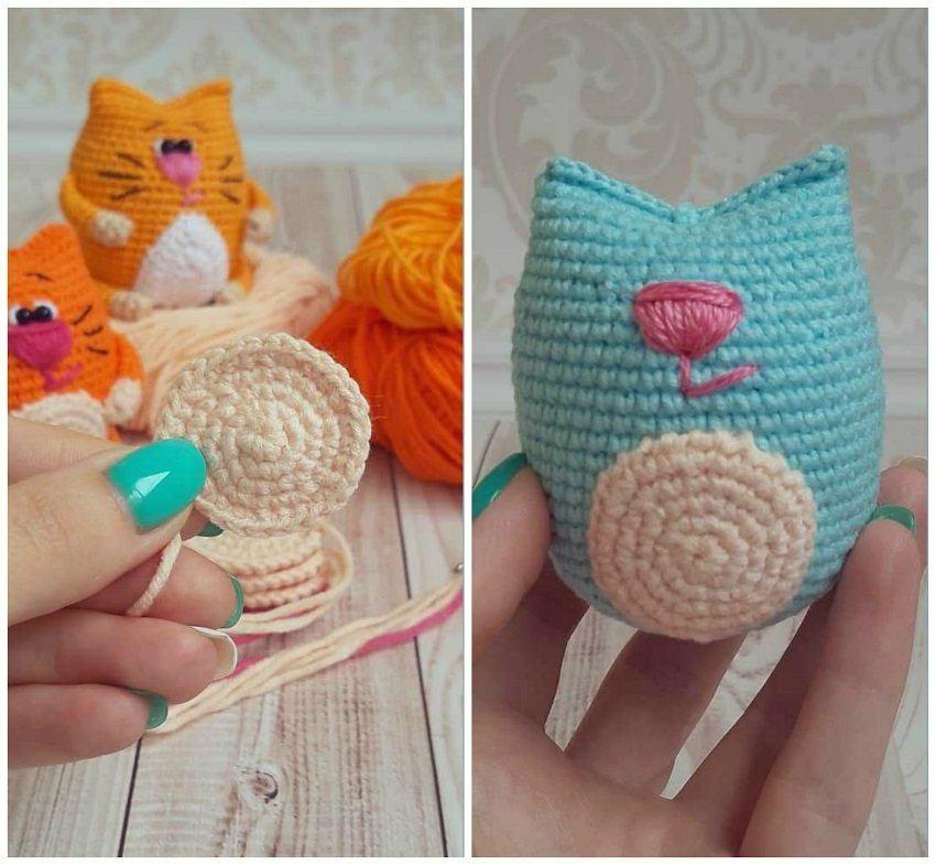 Amigurumi Cat Kawaii Keychain Crochet Free Pattern - Crochet ... | 785x850