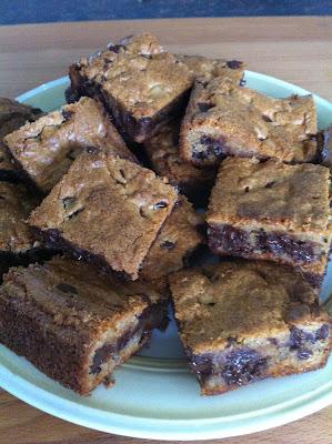 Chewy Peanut Butter Brownies / My Sweet Zepol /