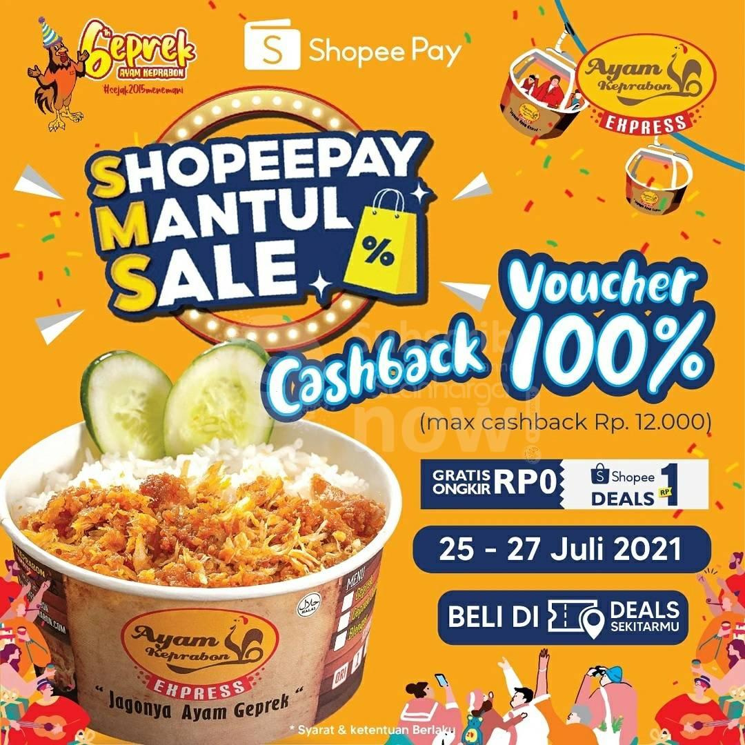 Ayam Keprabon Promo ShopeePay - Beli Voucher Deal hanya Rp. 1,-