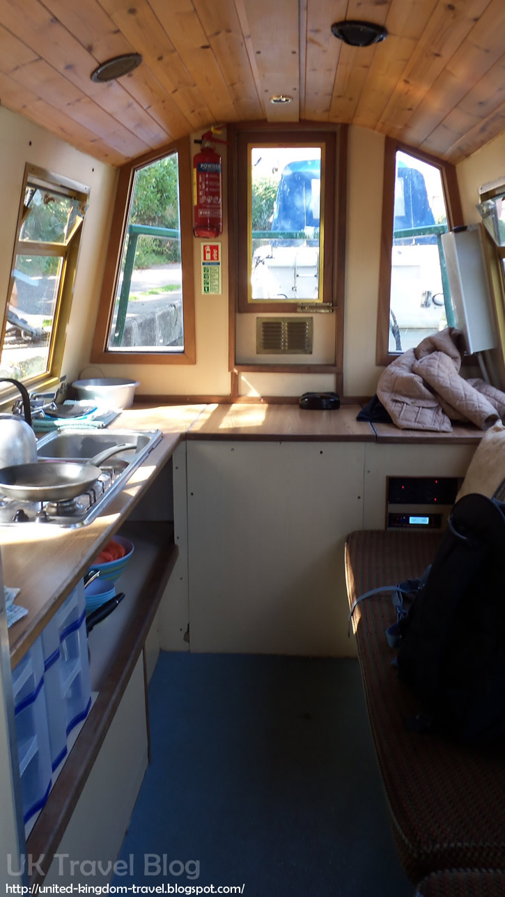 Interiors of Mr Toad - Day Boat from Lee Valley Boat Hire