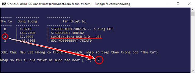 1 Click Boot USB hidden partition