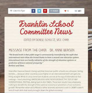 Franklin School Committee newsletter