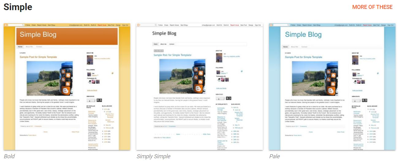 Blogger 'Simply Simple theme'