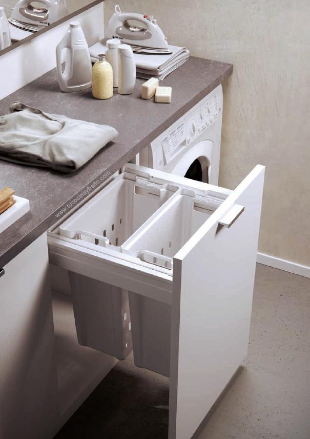 tolva ropa mueble cocina extraible