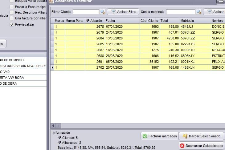 Previsualización de facturas en GestFuturo software de gestion