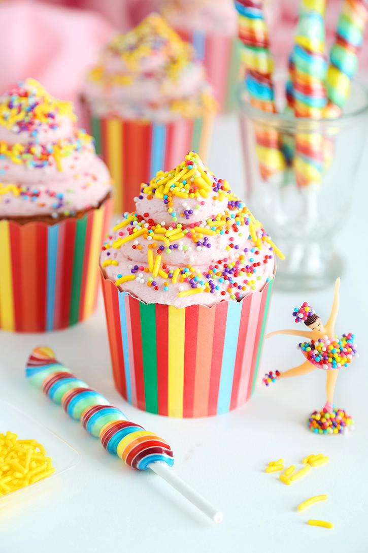 Strawberry Banana Cupcakes