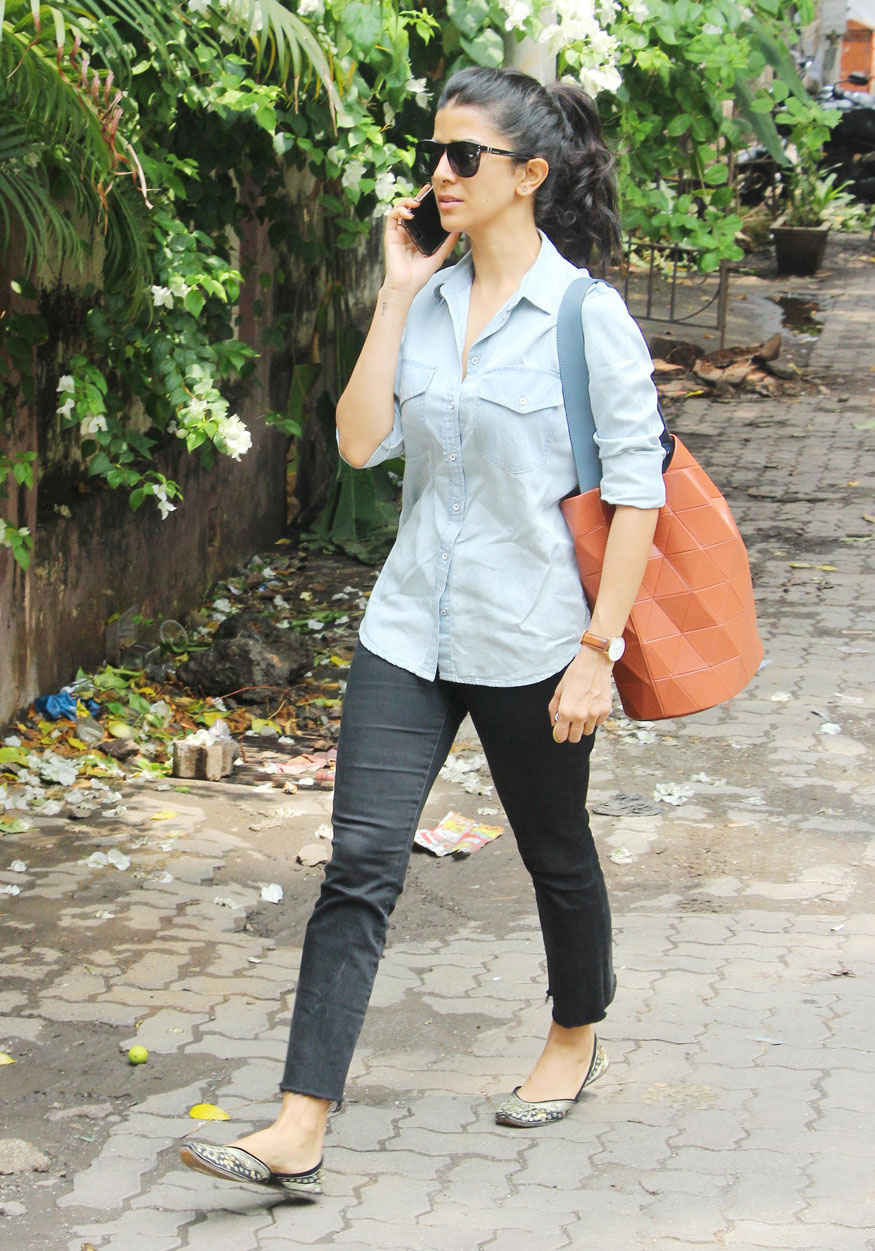Bollywood Actress Nimrat Kaur at Kitchen Garden In Mumbai