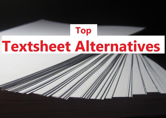 Textsheet Alternative For Students