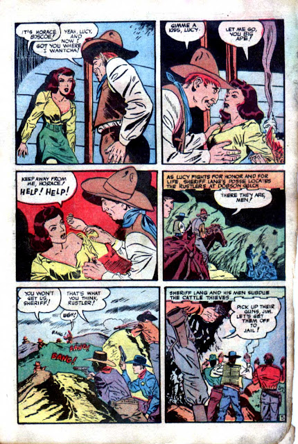 Western Crime Busters v1 #10 - Wally Wood art 1950s western comic book page