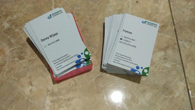Kartu Nama Karyawan Biogreen
