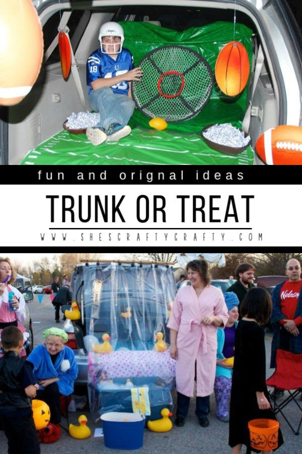 Use these Fun and Original Trunk or Treat Ideas to decorate your trunk