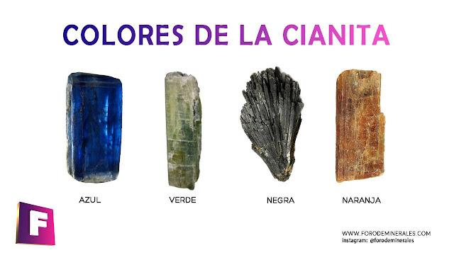 colores de cianita mineral | foro de minerales