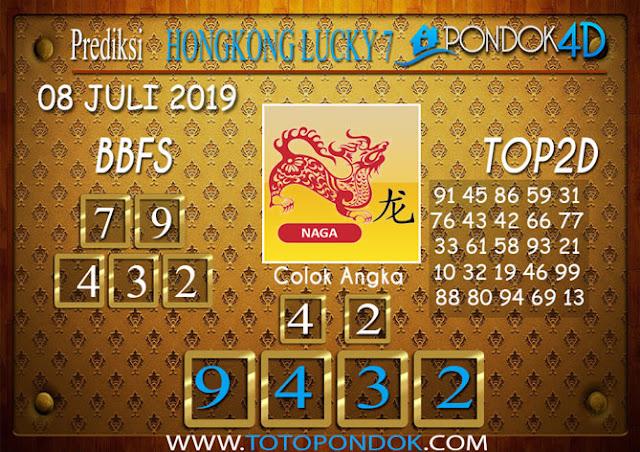 Prediksi Togel HONGKONG LUCKY 7 PONDOK4D 08 JULI 2019