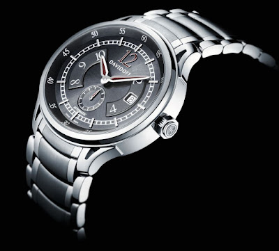 Davidoff Very Zino Gent Automatic, Ref. No.10006: Black dial, stainless steel bracelet, butterfly buckle