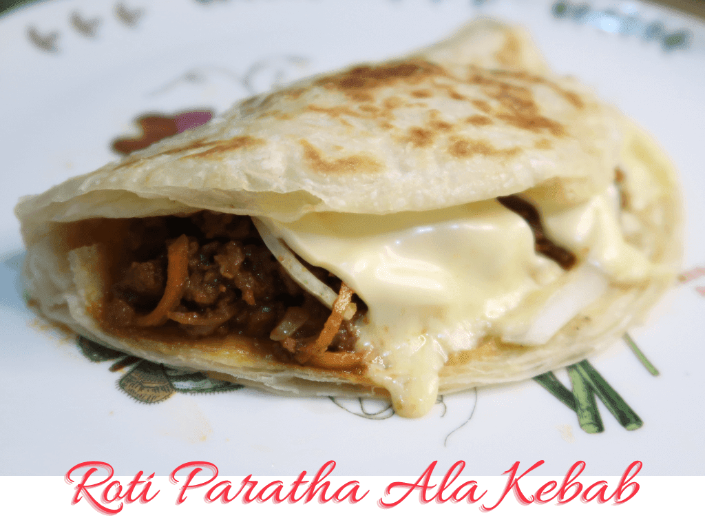 Roti Paratha ala Kebab dengan Kari Daging Berkeju