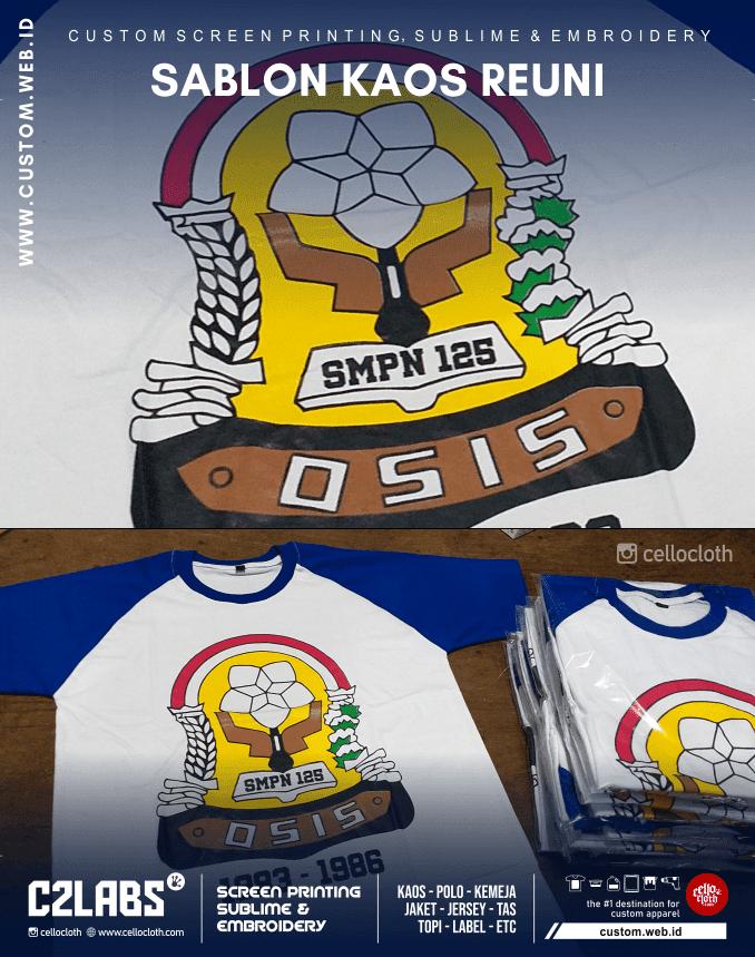 Sablon Kaos Reuni OSIS Design - Kaos Reuni Online