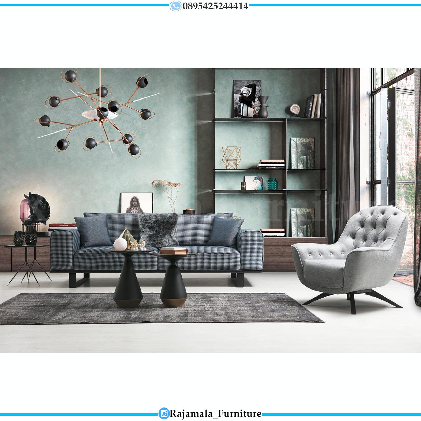 Sofa Ruang Tamu Modern Minimalis Design Elegant Simple Luxury RM-0151