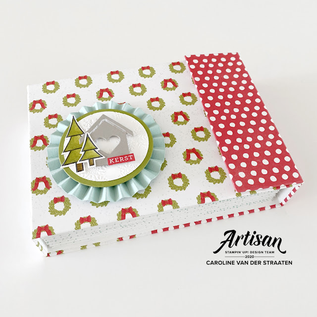 December Daily mini album, Stampin' Up! Trimming the town suite