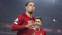 Liverpool's defeat of Chelsea 5-3, Virgil van Dijk reacts