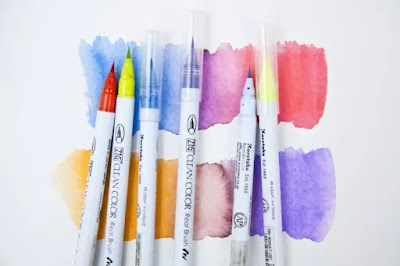 Zig Clean Color Real Pens watercolor sample