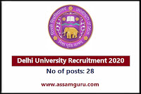 Delhi University Job 2020