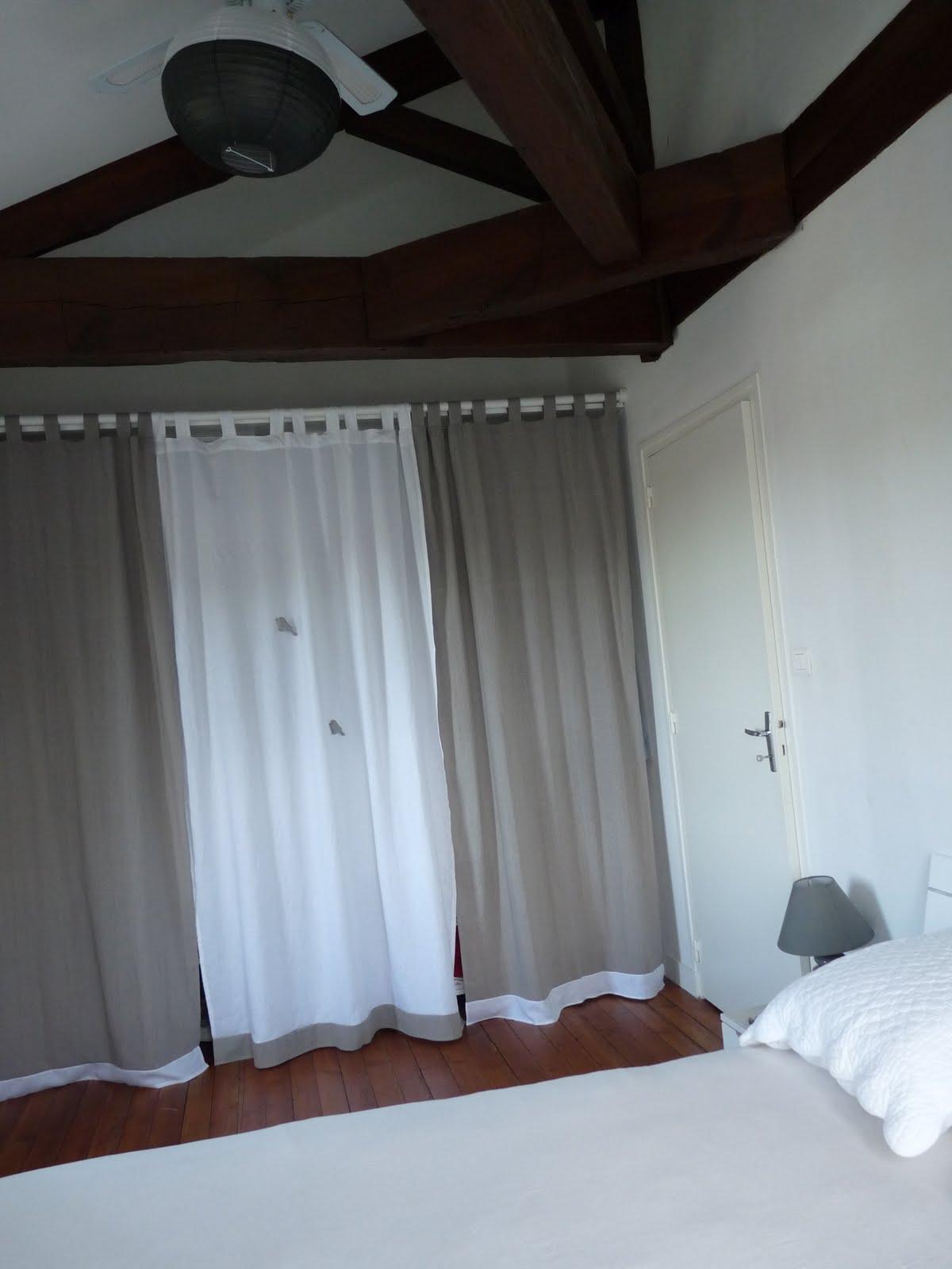 cacher une armoire avec un rideau