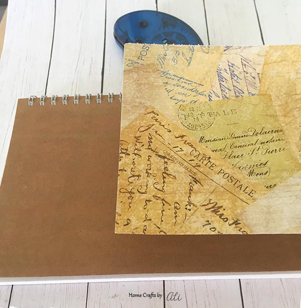 Easy step-by-step tutorial with pictures to make your own notebook for travel