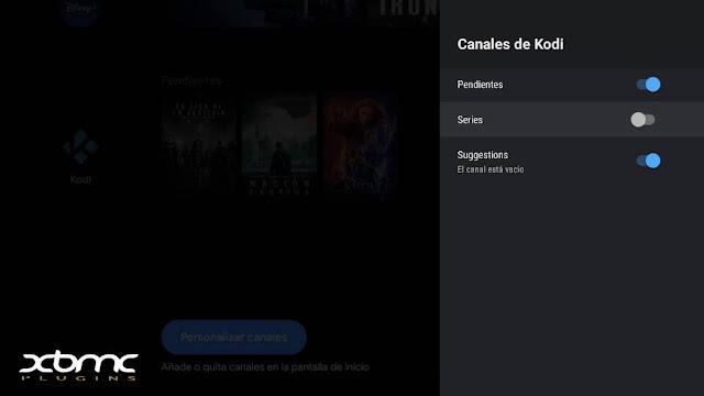 añadir series TV kodi android TV