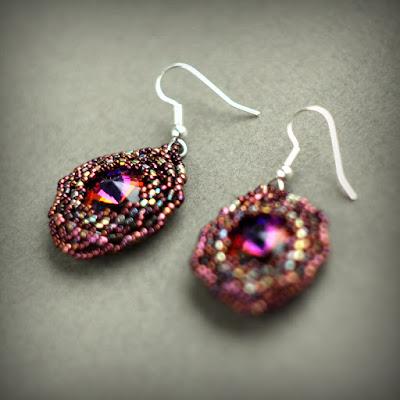 купить украшения с кристаллами сваровски серьги из бисера интернет магазин