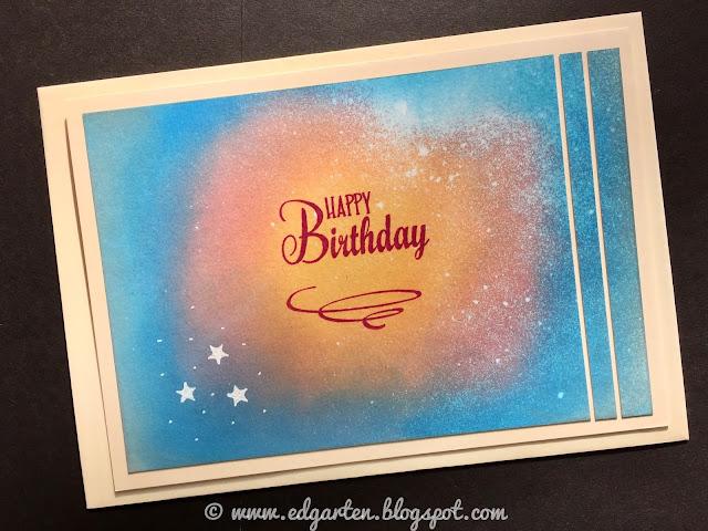 Galaxy Geburtstagskarte