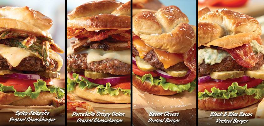 News Ruby Tuesday New Pretzel Burgers Brand Eating
