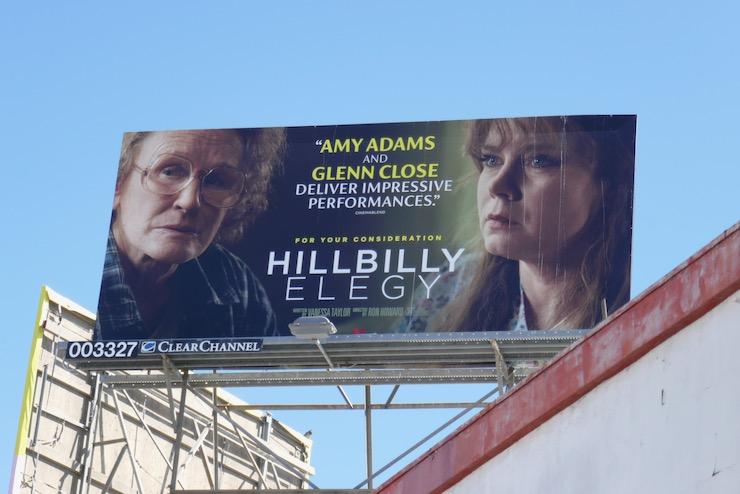 Hillbilly Elegy FYC billboard