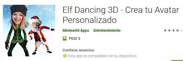 fotomontaje para Navidad vestido de papá noel con Elf Dancing 3D