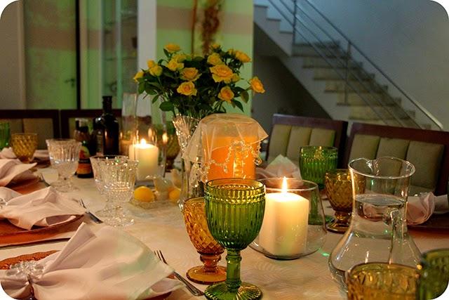 Decoração do Jantar de Noivado